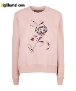 Burberry Embroidered Floral Motif Sweatshirt