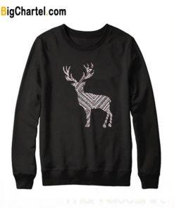Christmas Deer Black Sweatshirt