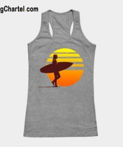 Surfer Girl Sunset Surfer Tank Top