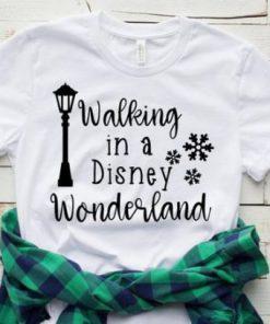 Walking in a Disney T-shirt
