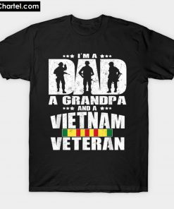 A Dad A Grandpa And A Vietnam T-Shirt PU27