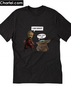 Baby Groot and Baby Yoda T Shirt PU27