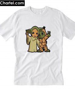 Baby Yoda And Baby Groot T-Shirt PU27