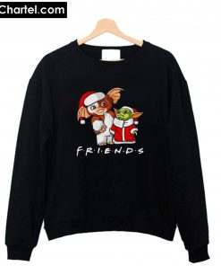 Baby Yoda and Gizmo Santa Friends Christmas Sweatshirt PU27