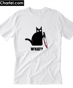 Cat and Knife T-Shirt PU27