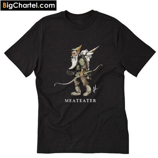 MeatEater Hunt Gnome Packing Out a Unicorn T-Shirt PU27