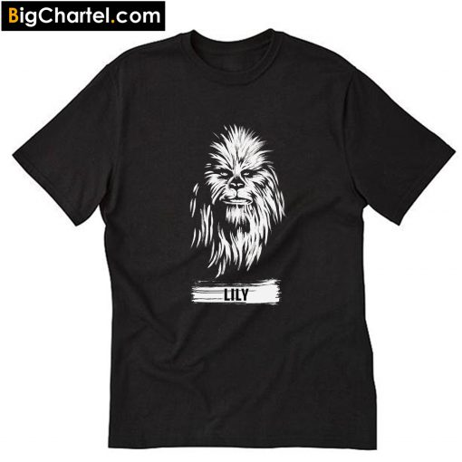 Official Star Wars Chewbacca Brush Childs Personalised T-Shirt