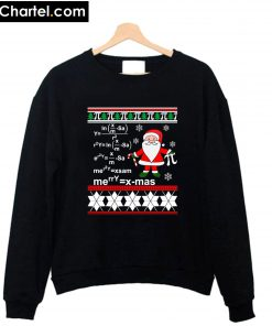 Ugly Christmas Math Teacher Christmas Sweatshirt PU27