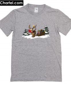 Weihnachtsgeschenke Rudolph the rednosed reindeer T-Shirt PU27