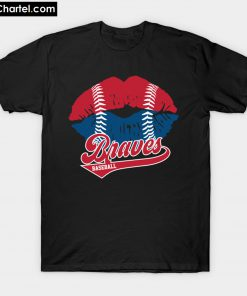 Braves Baseball Lips T-Shirt PU27