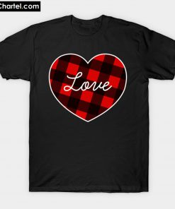 Buffalo Plaid Heart T-Shirt PU27