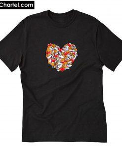 Bulldog Heart Valentines Day Love Dog 2020 T-Shirt PU27