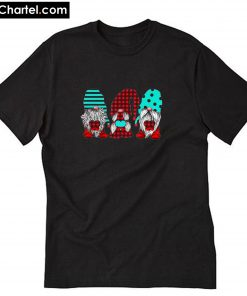 Three Gnomes Holding hearts Valentine's Day T-Shirt PU27