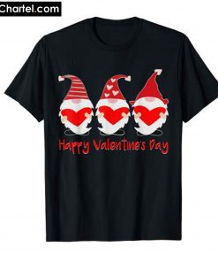 Three Gnomes Holding hearts Valentines T-Shirt PU27