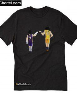 Vegeta Kobe Bryant and Goku Lebron James T-Shirt PU27