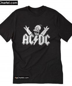 ACDC Rock Band Homer Simpson Parody T-Shirt PU27