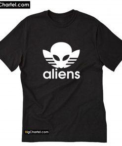 Aliens - Adidas Logo Parody T-Shirt PU27