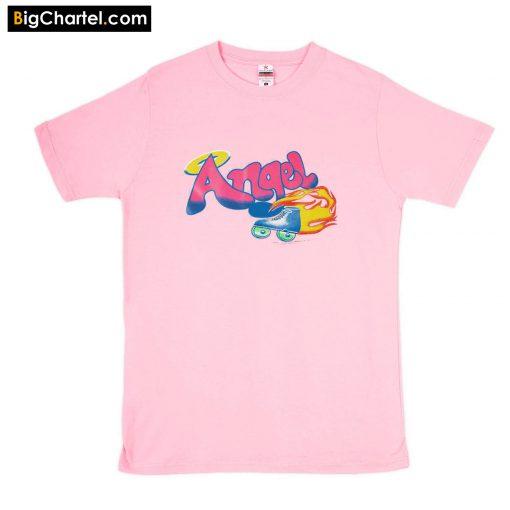 Angel Letter Print Pink T-Shirt PU27