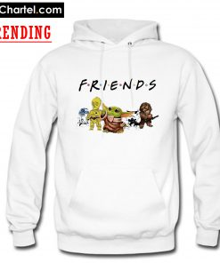 Baby Yoda R2D2 P3PO Friends TV show Hoodie PU27