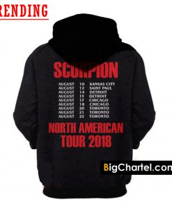 Drake Scorpion North America Tour 2018 Merchandise Hoodie Back
