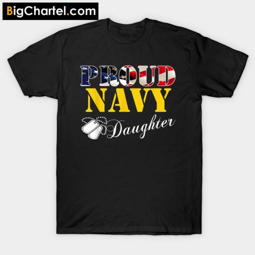 Proud Navy Daughter T-Shirt PU27