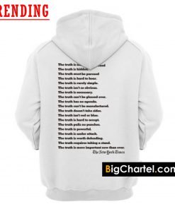 The New York Times Truth Hoodie Back