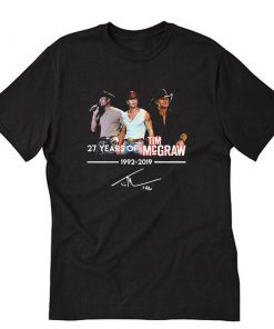27th Years Of Tim McGraw 1992-2019 signature T-Shirt PU27