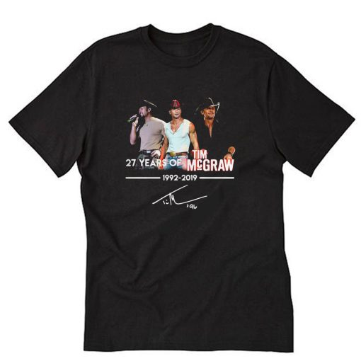 27th Years Of Tim McGraw 1992-2019 signature T-Shirt PU27