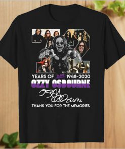 72 years of Black Sabbath 1948 2020 Ozzy Osbourne thank you T-Shirt PU27