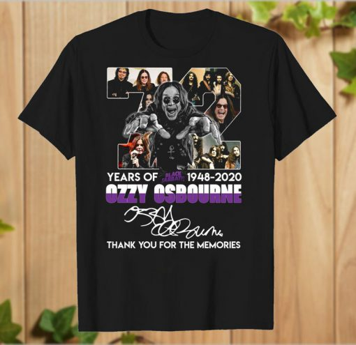 72 years of Black Sabbath 1948 2020 Ozzy Osbourne thank you T-Shirt PU27