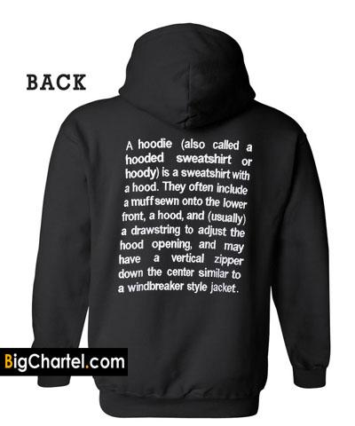 A Hoodie Definition Hoodie Back PU27