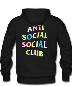 Anti Social Social Club ASSC Rainbow Hoodie back PU27
