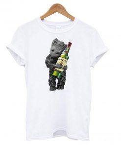 Baby Groot Hug Jameson Wine T shirt PU27