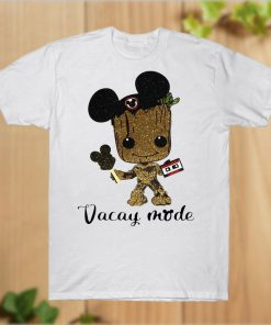 Baby Groot Mickey Ears Vacay Mode Guardians of the Galaxy T-Shirt PU27