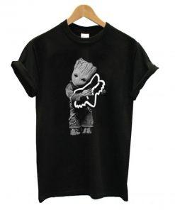 Baby Groot hug Fox Racing T shirt PU27