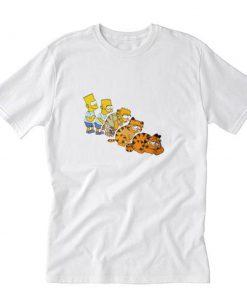 Bart Simpson And Garfield T-Shirt PU27