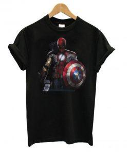 Captain America Ironman Thor Spiderman and Hawkeye T-Shirt PU27
