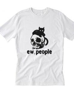 Cat Skull ew people T-Shirt PU27