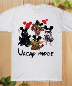 Vacay Mode Baby Yoda Disney The Mandalorian With Death Star Wars T-Shirt PU27