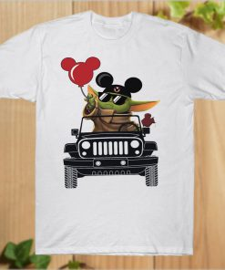 Vacay mode Baby Yoda Mickey Balloon Jeep T-Shirt PU27