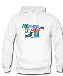 Vintage MTV Beach Island Flamingo Hoodie PU27