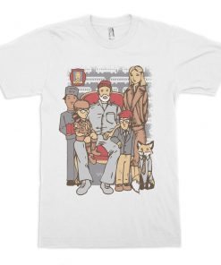 Wes Anderson Movie Heroes T-Shirt PU27