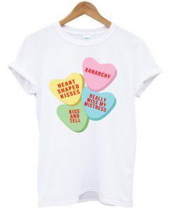 Xanarchy candy Heart Pink T-Shirt PU27