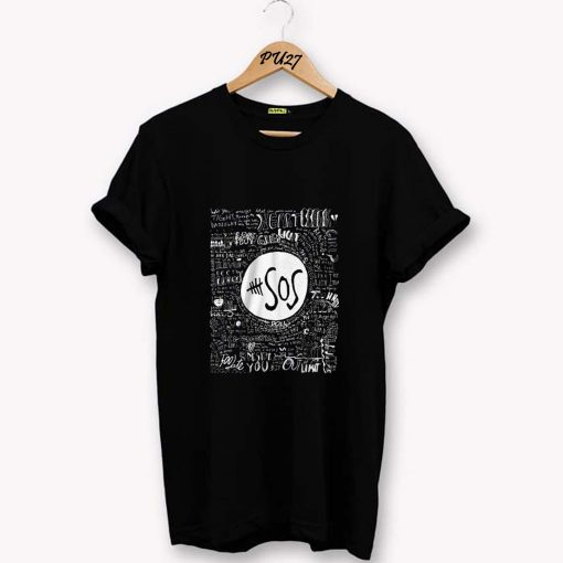 5 Seconds of Summer SOS black T-Shirt PU27