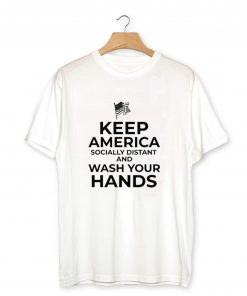 Keep America Socially Distant T-Shirt PU27