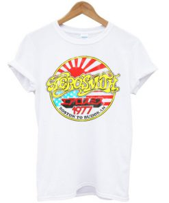 Aerosmith Boston To Budokan 1977 T-shirt PU27