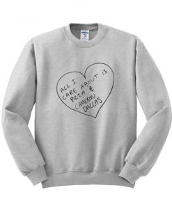All I Care About is Pizza and Cameron Dallas Sweatshirt PU27