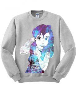 Ariel Little Mermaid Galaxy Unisex Sweatshirt PU27