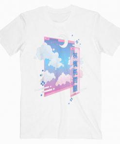 80s Retro Vaporwave Pastel Goth Soft Grunge Kawaii Moon T-Shirt PU27