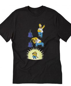 Action The Simpsons and Minions T-Shirt PU27